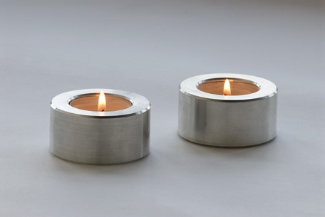 Candles from machined Aluminum.  4 for $48