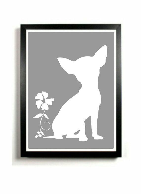 Chihuahua Art Print  Dog artwork Chihuahua by DIGIArtPrints