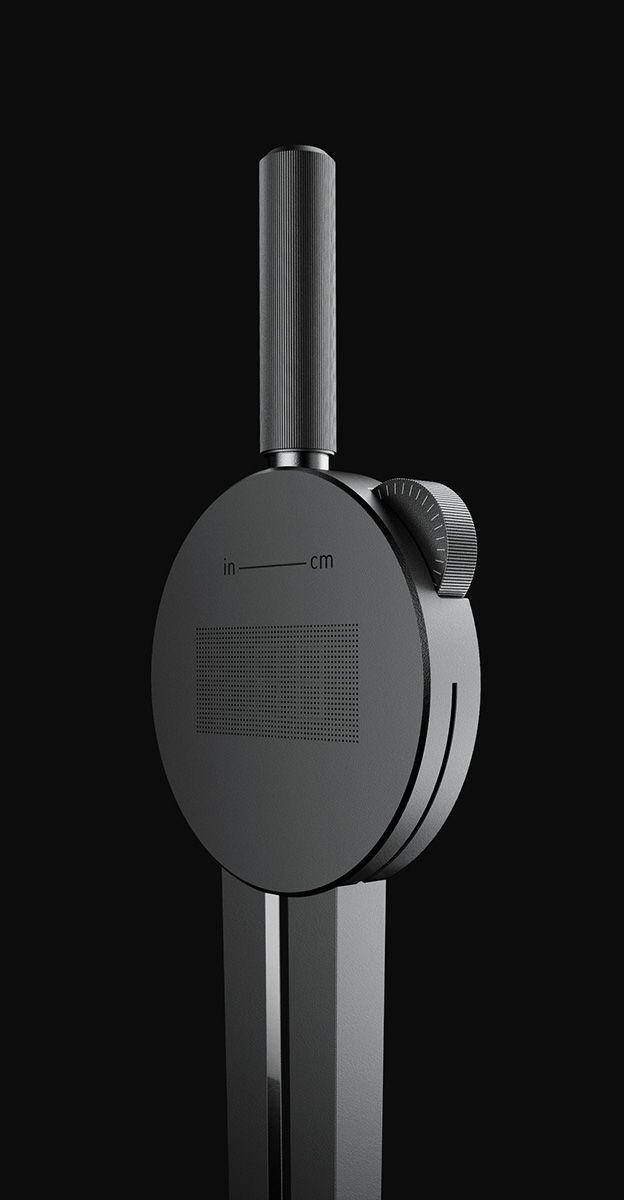 Black metal button aluminum minimalist tool MNML