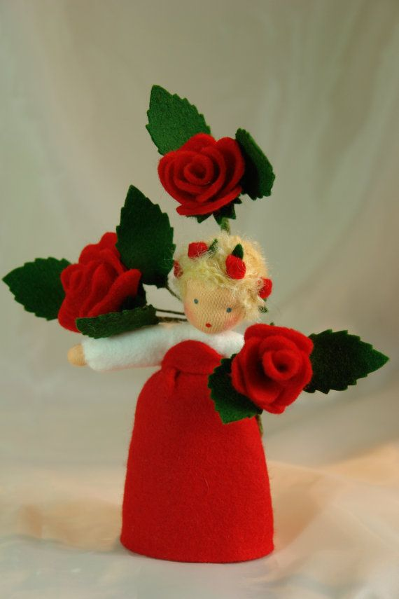 Red Rose  Flower Child  Waldorf  Inspired  by KatjasFlowerfairys, €38.00