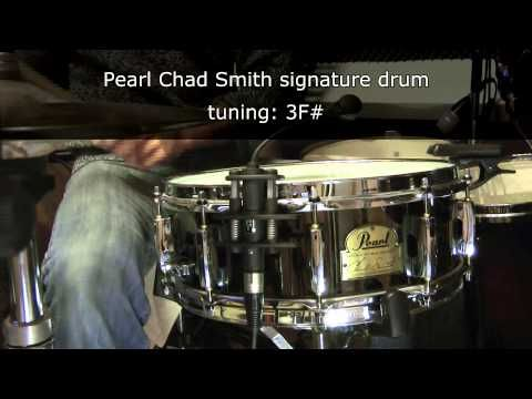 Pearl Chad Smith 14 x 5 snare drum tuning range - YouTube