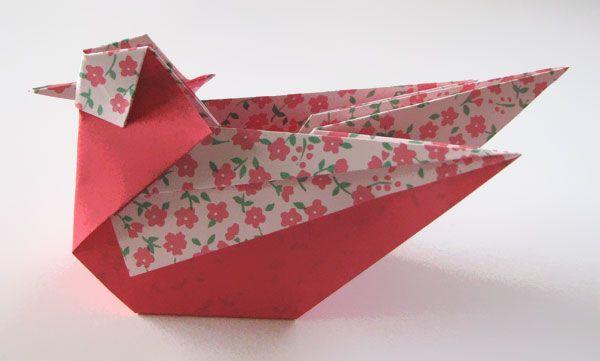 Origami Mandarin ? Seagull designed by Simon Andersen tutorial by Hans Dybkjær