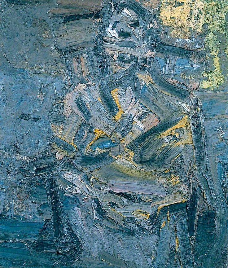 J. Y. M. Seated by Frank Auerbach Oil on board, 71 x 61 cm
