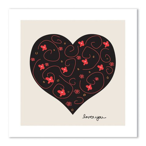 theodore + paper: hearts + flowers card – theodore + paper