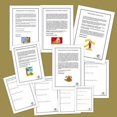 Cuentos breves y fichas para ejercitar la comprensión de textos
