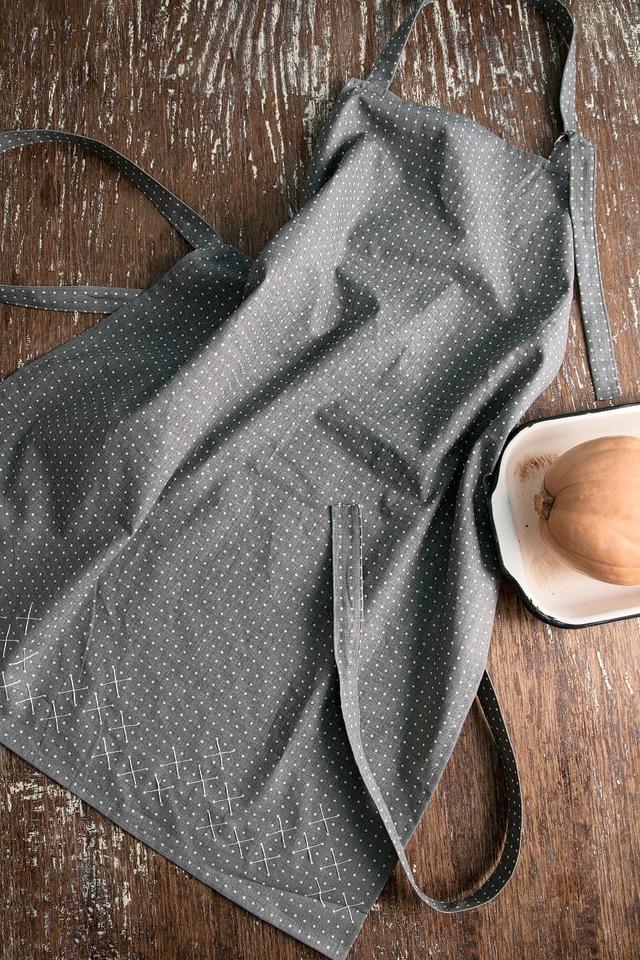 cross stitch pattern apron by karen barbe    #gray #screenprint #domestic