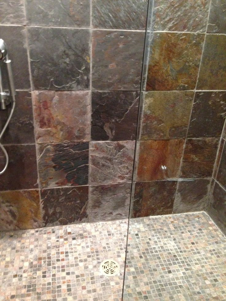 we love cleaning and sealing slate removed a lot of and soap residue slatetile groutgrout