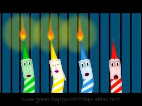 Grumpy Candle's Funny Happy Birthday Greetings - Funny Birthday E Cards - YouTube