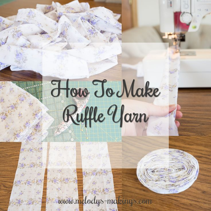 Have you ever found yourself wishing for a yarn that was super unique?  Something that only you would have access to and that would make your project truly one of a kind?  Check out this tutorial on how to make your own fabric ruffle yarn!  Projects created with this beautiful yarn convey so much love – you did all the work from the absolute start to the finish, and now you have a gorgeous, one-of-a-kind gift for someone in your life ..