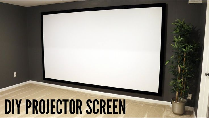 18 best DIY Projector Screen images on Pinterest   Movie theater ...
