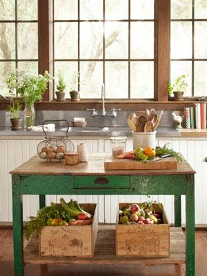 All in the Details: Big Window, Kitchens Ideas, Rustic Kitchens, Green Kitchens, Kitchens Islands, Country Kitchens, Farmhouse Kitchens, Farms Tables, Farms Kitchens