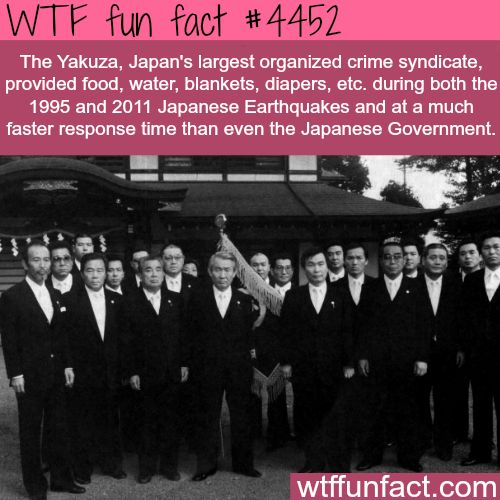 The Yakuza provided food faster than the government - WTF fun facts