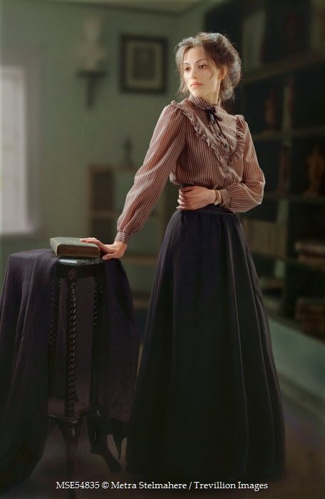 Metra Stelmahere - HISTORICAL WOMAN WITH BOOK AND TABLE - People - Women