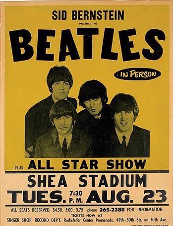 The Beatles♥♥Shea Stadium Concert Poster♥♥1965
