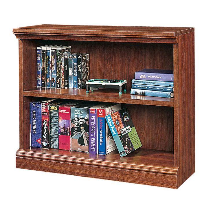 Sauder 2-Shelf Bookcase - Cherry, Brown