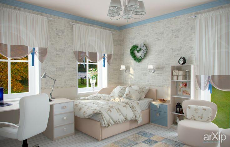 Детская-подростковая для девочки: интерьер, квартира, дом, детская комната, романтизм, боз-ар, 20 - 30 м2 #interiordesign #apartment #house #nursery #romantic #20_30m2 arXip.com