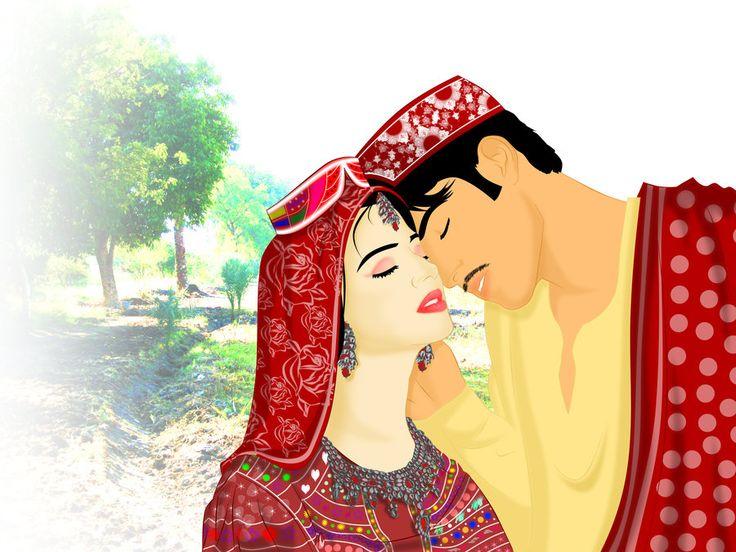 Traditional Sindhi Couple by ArsalanKhanArtist on DeviantArt