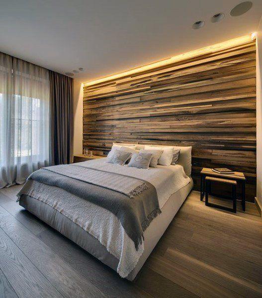 Top 70 Best Wood Wall Ideas Wooden Accent Interiors Luxurious Bedrooms Rustic Master Bedroom Modern Bedroom Design