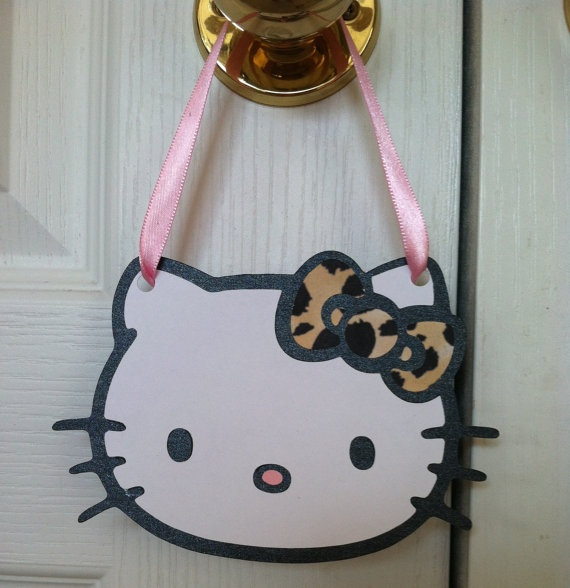 Hello Kitty Party Favor Doorknob Hangers Set by PartiesbySandraDee, $11.00
