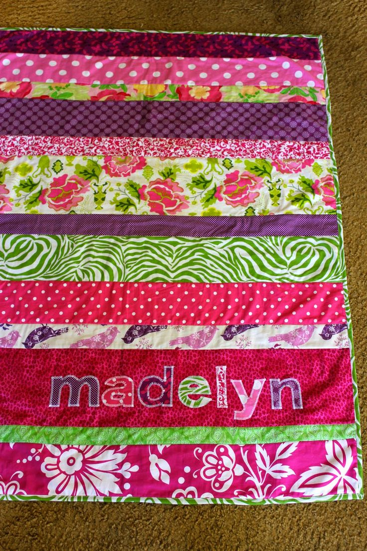 Lu Bird Baby: Easily Personalized Strip Quilt for Baby-Tutorial