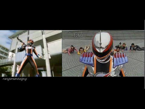Power Ranger Operation Overdrive Mercury Ranger Split Screen (PR and Sen...