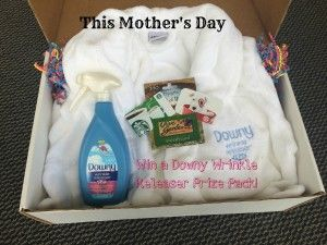 Win gift box with : --Olive Garden gift card --Target gift card --Starbucks gift card --The famous Downy Wrinkle Releaser Plus plush robe! --And, best of all, take some time off from ironing with a big bottle of Downy Wrinkle Releaser Plus! A total value of $125.00! #ad