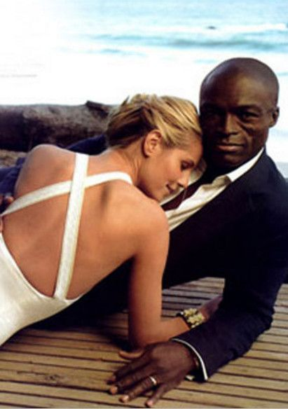 Heidi Klum and Seal (2005) - Vintage Celebrity Wedding Photos - Photos