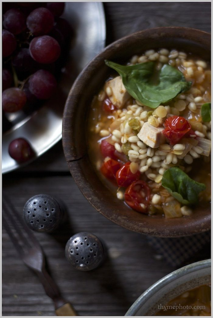 Roasted Chicken and Barley Soup www.rileymadel.blogspot.com