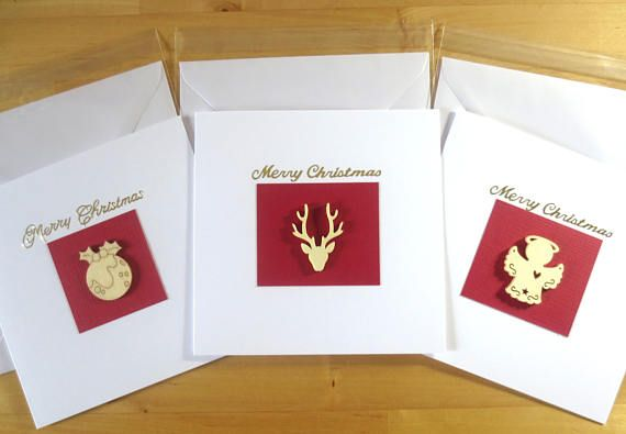 Christmas Card Pack  Christmas Pudding Reindeer Angel