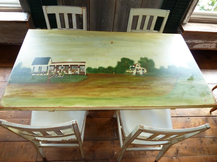 Our customers love our hand painted tables.  What chain has those???  Be sure to check out our new ECP wedding themed table this spring!