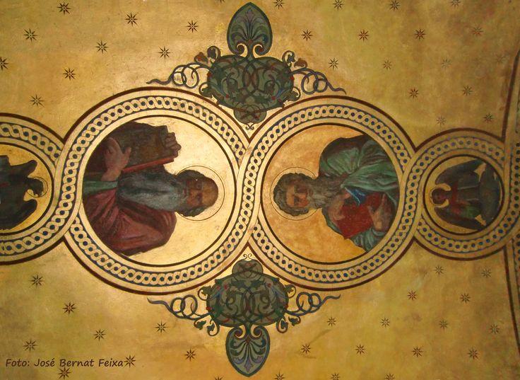 Kerk (?) Plafond schildering, Wenen