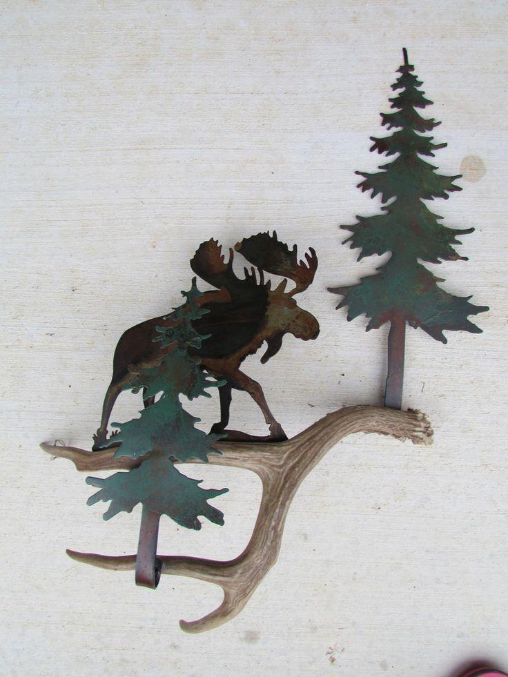 B111)  Rustic Moose in the Pines