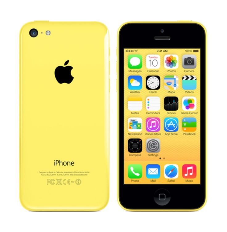iPhone 5C Yellow 16GB by Apple. Yellow iPhone 5C with 4-inch retina display, 16 GB, iOS 7, dual core 1.3 Ghz, 8 MP iSight camera, dual core, this iPhone sure is eye catching, this iphone come with 5 colors, blue, yellow, white, black and pink. http://www.zocko.com/z/JJUyn