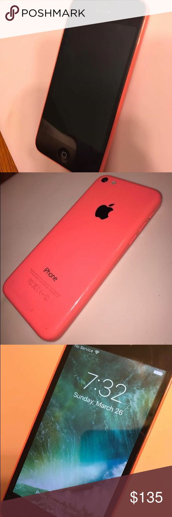 iPhone 5c PINK 16 gb Fully functional, Noticeable scratches - Feel free to make an offer!!😊 Other