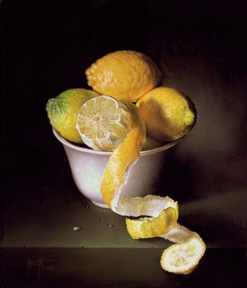 .lemon still life