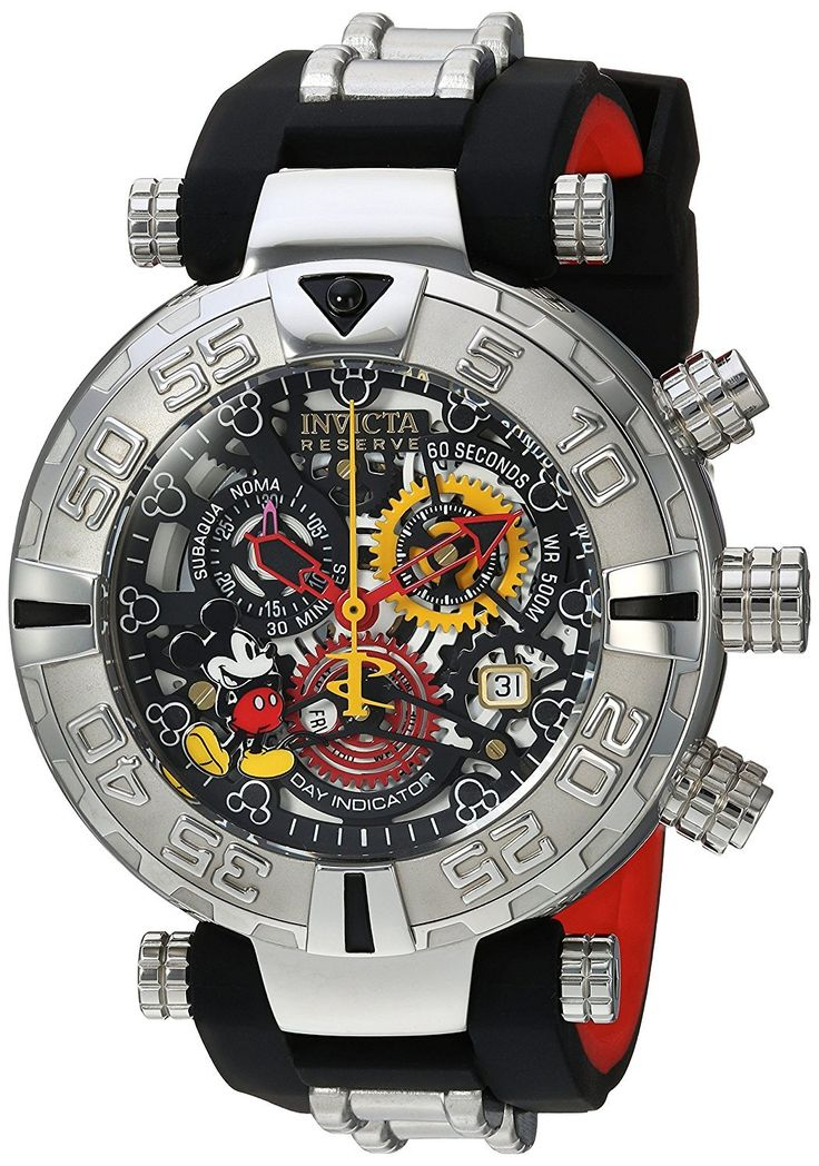 Invicta Disney Limited Edition 22733 Men's Watch Swiss Chrono Skeleton Dial Silver-Tone Stainless Steel Case