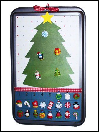Cookie Sheet Advent Calendar Craft | Can be done for any holiday or event