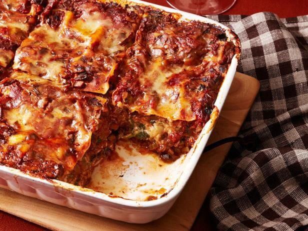 Spinach Lasagna with Mushroom Ragu and other Easy-to-Freeze Casseroles: Food Network, Ragu Recipe, Network Kitchens, Spinach Lasagna, Asiago Cheese, Ahead Meal, Mushroom Lasagna, Mushroom Ragu, Porcini Mushrooms