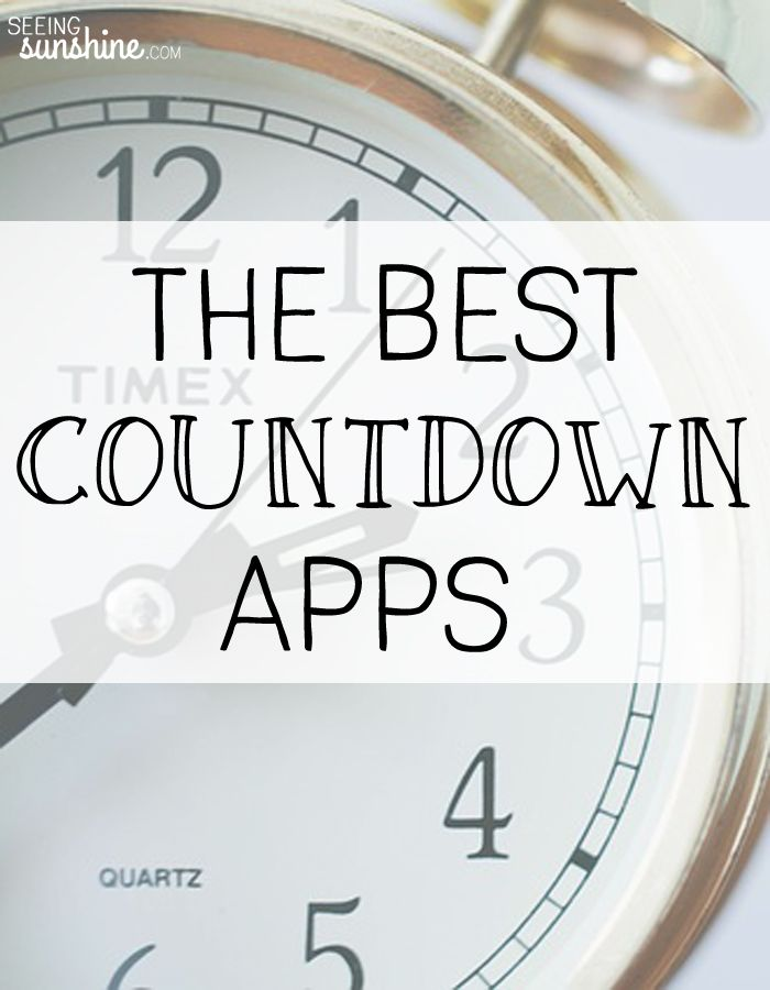 Are you going through a deployment? Or perhaps your wedding is coming up? Whatever big (or small) event you are counting down to be sure you find the best countdown app for you!