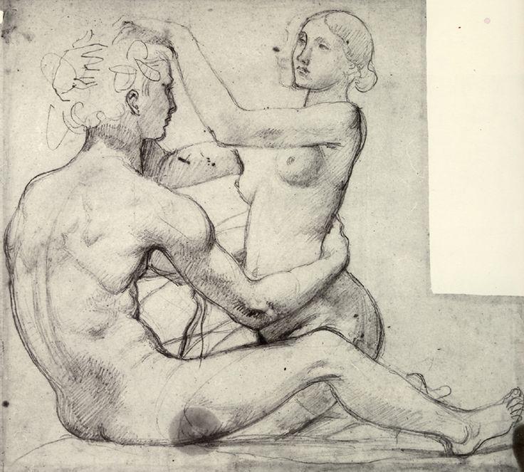 Jean Auguste Dominique Ingres la source | Portrait de Madeleine Ingres