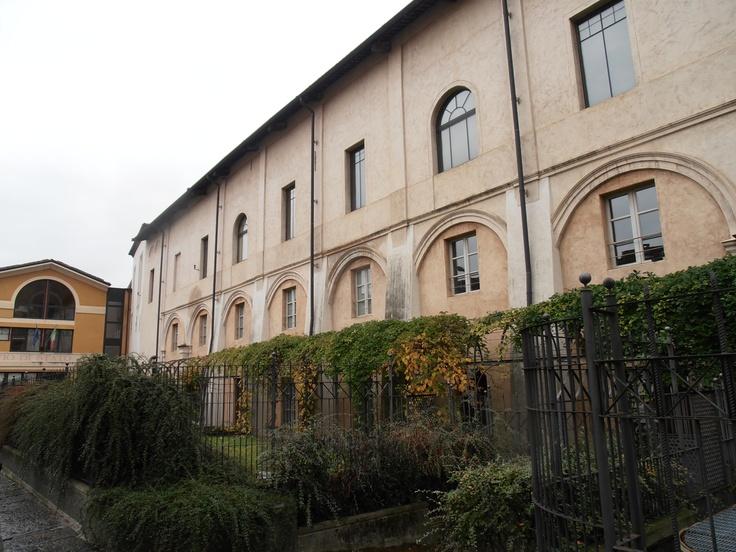 dietro il nostro palazzo...il retro del museo del territorio biellese e l'archivio di stato