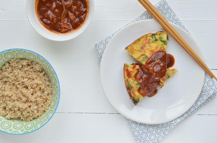 Foe Yong Hai van Pauline's Keuken. Eenvoudig. Makkelijke zoet-zure saus