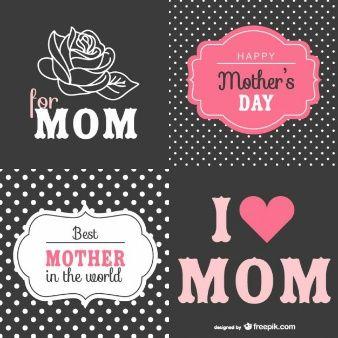 Colección tarjetas para el día de la madre