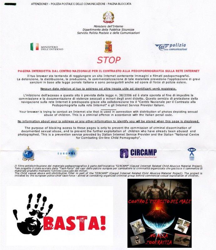 SIGN Zooerastia … block site blacklist