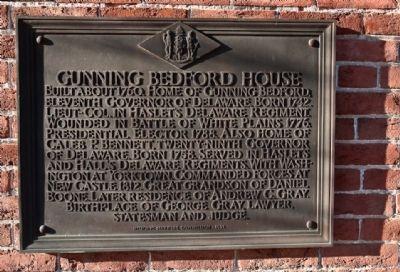 Gunning Bedford House Marker. Click for full size.