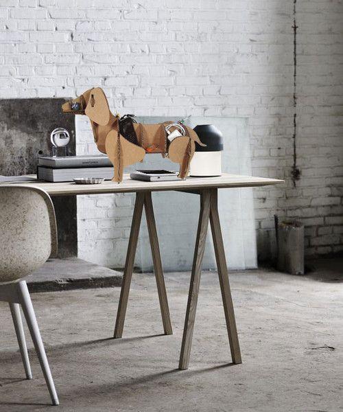 Scaffali & Mensole - Cane di cartone, mobile da tavolo, eco design - un prodotto unico di bottegadicartone su DaWanda