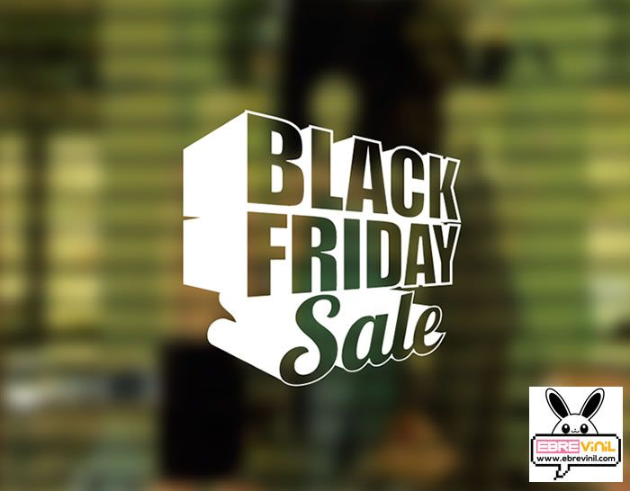 "Vinilo decorativo de corte para tiendas (escaparates y paredes) ""Black Friday 3D"""