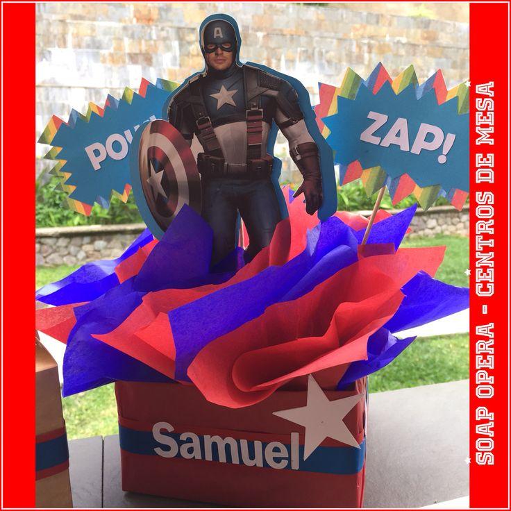 Centro De Mesa Capitán América: Centro De Mesa Capitán América