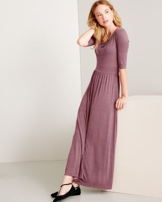 Garnet and black maxi dress
