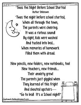 I found this adorable poem online and had to share it!  I cannot find the author of the poem.  If you know who wrote it, please let me know so I can give proper credit.I copy these on bright card stock and place it in my open house folders for parents to giggle over!